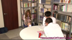 Japanese schoolgirl is fucking her best friend instead of studying, because she is horny