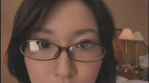 Plump asian with glasses gper something facial